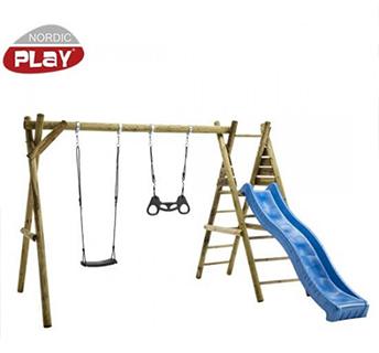 Nordic Play gyngestativ med rutsjebane