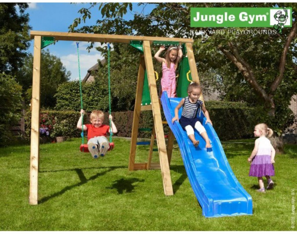 Jungle Gym gyngestativ med rutsjebane