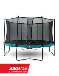 BERG – Champion 330 cm Airflow Trampolin + Comfort Sikkerhedsnet – Grøn